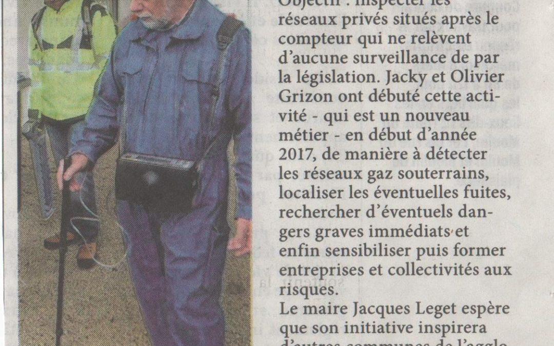Article L'Hebdo 23/02/2017 sur la recherche de fuite de Gaz à Saint-Rogatien